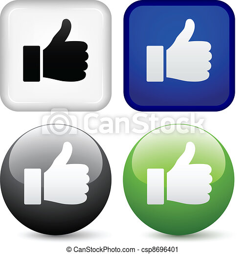 vector thumbs up buttons - csp8696401