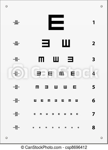 vector Snellen eye test chart - csp8696412