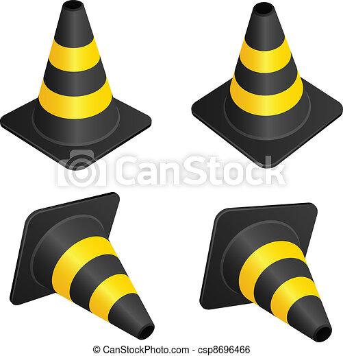 vector traffic cones - csp8696466