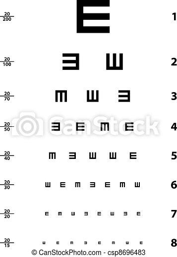vector Snellen eye test chart - csp8696483