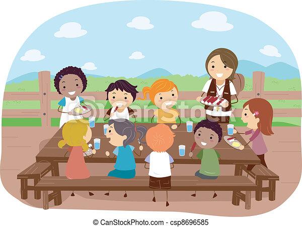 Camp Dining - csp8696585