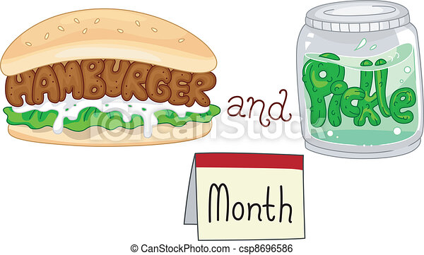 Hamburger and Pickle Month - csp8696586