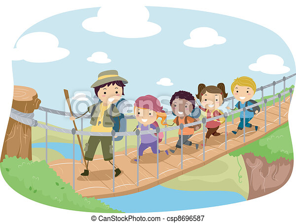 Hanging Bridge - csp8696587