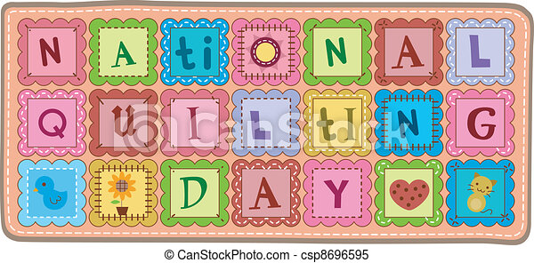 National Quilting Day - csp8696595