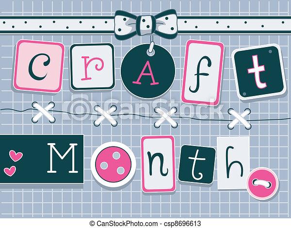 Craft Month - csp8696613