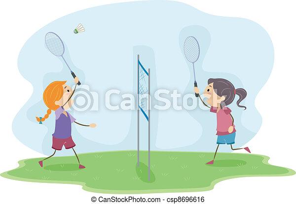Badminton Girls - csp8696616