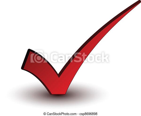 vector red positive checkmark - csp8696898