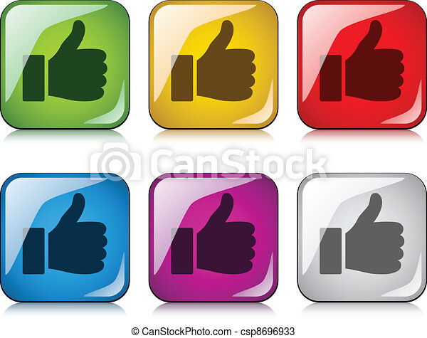 vector thumbs up buttons - csp8696933