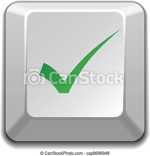 vector positive checkmark key - csp8696948