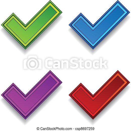 vector positive checkmarks - csp8697259