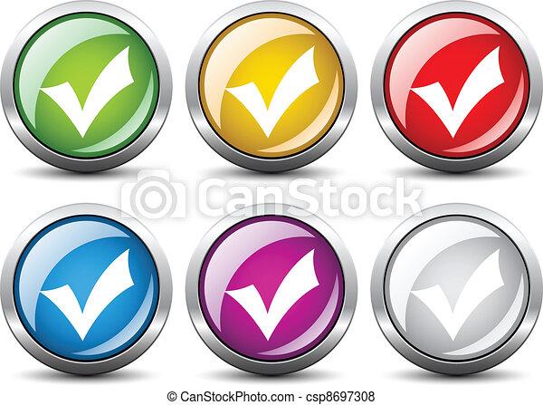 Vector positive checkmark buttons - csp8697308