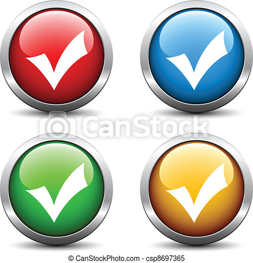 Vector positive checkmark buttons - csp8697365