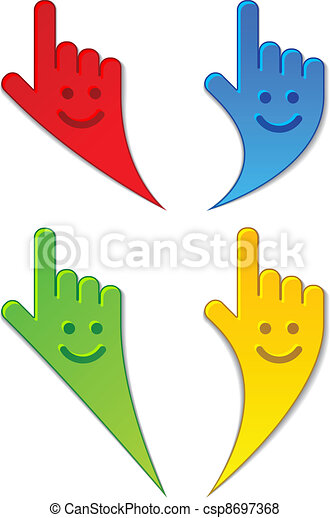 vector smiling aiming hands - csp8697368