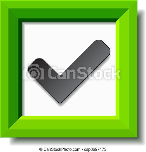 vector green positive checkmark - csp8697473