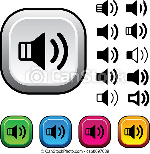 vector speaker icons and buttons - csp8697639