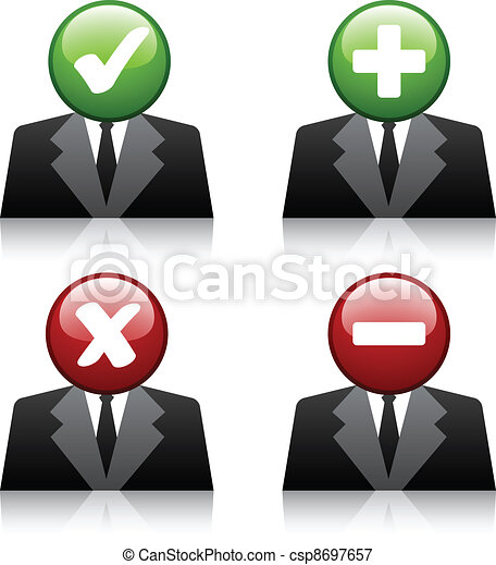 vector add delete professional user icons - csp8697657