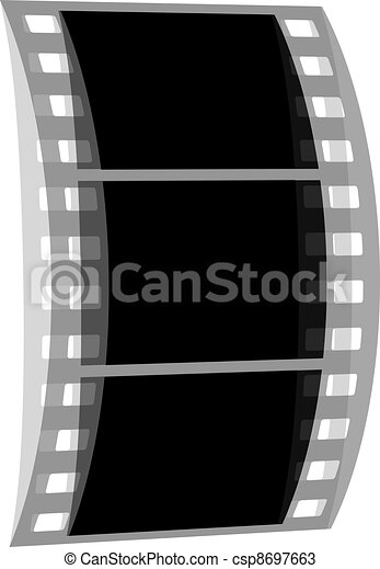 vector transparent negative film strip - csp8697663