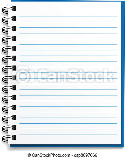 vector blank lined notebook - csp8697666