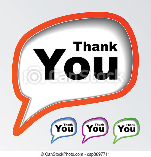 vector speech bubbles thank you - csp8697711