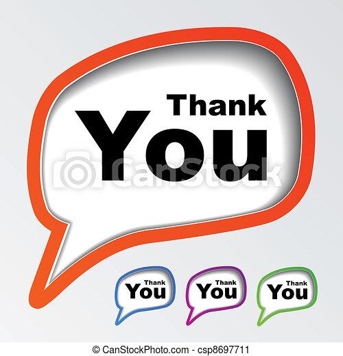 vector speech bubbles thank you - csp8697711