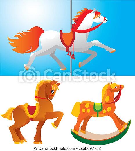 toy horses - csp8697752