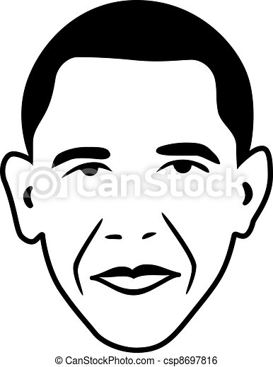 vector Barack Obama - president of USA - csp8697816