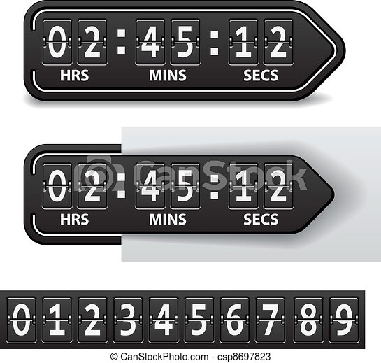 vector countdown black mechanical timer - csp8697823