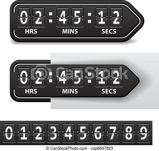 vector countdown black mechanical timer - csp8697823