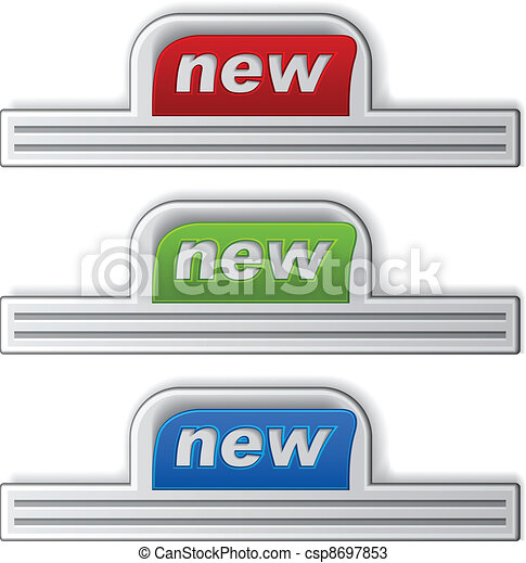 vector stuck new stickers - csp8697853