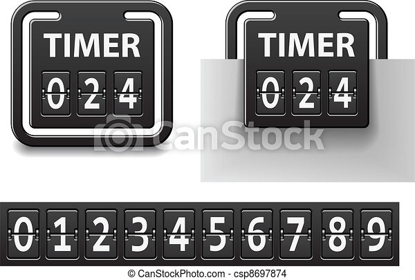 vector countdown square mechanical timer - csp8697874