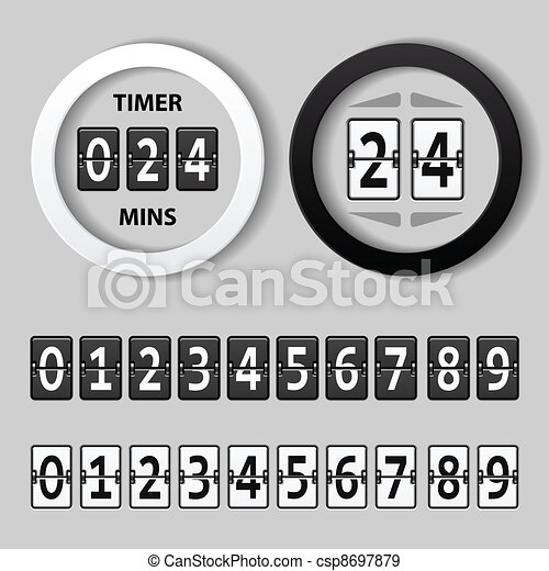 vector countdown round mechanical timer - csp8697879