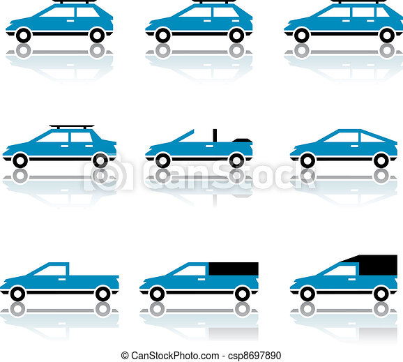 vector different car body style icons - csp8697890