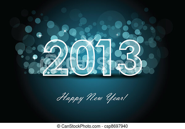 2013 - New year background - csp8697940