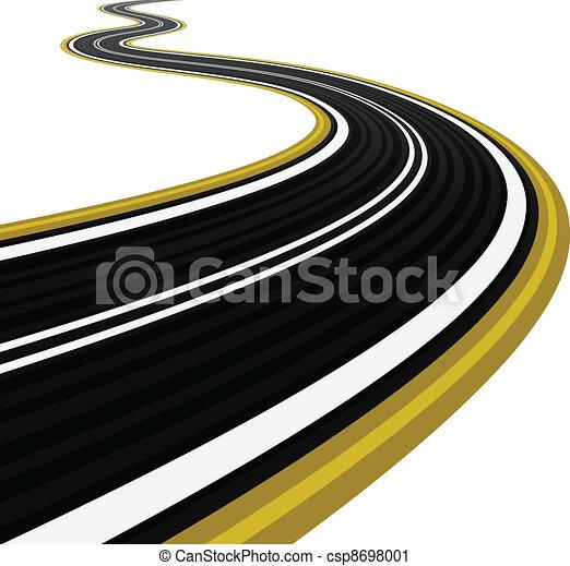 Racing Road Vector Vector Winding Road