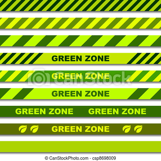 vector green zone seamless caution tapes - csp8698009