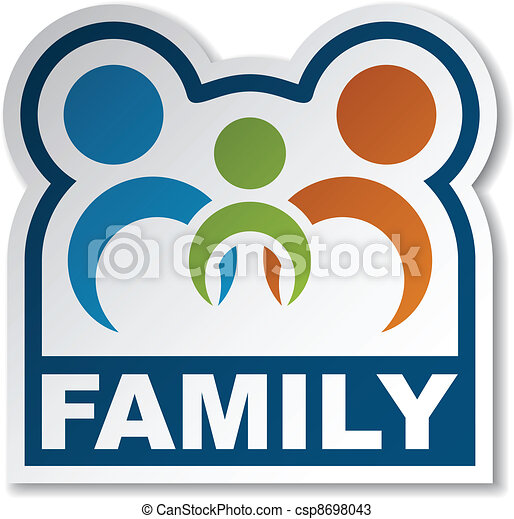 Vectors of vector family joined people sticker csp8698043 ...