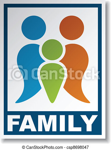 vector family symbol sticker - csp8698047