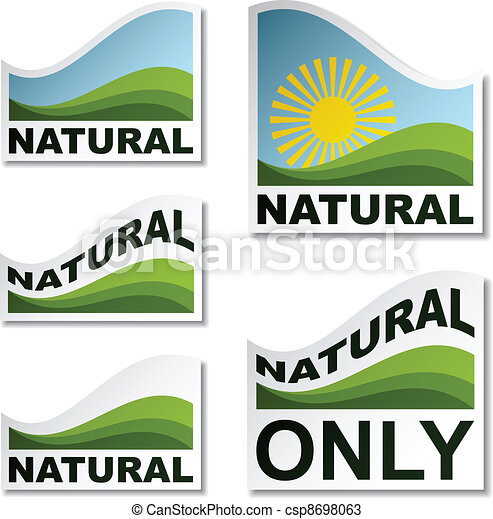 vector natural landscape stickers - csp8698063