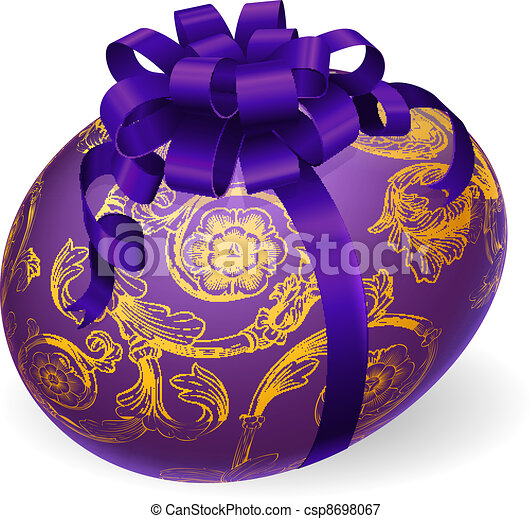 Decorated Wrapped Easter Egg - csp8698067