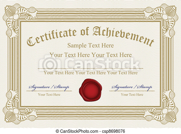 Vector certificate of achievement w - csp8698076