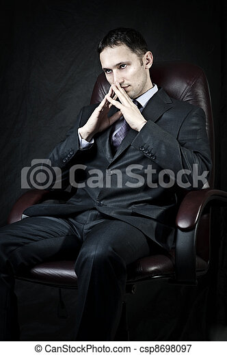 Young adult handsome businessman - csp8698097