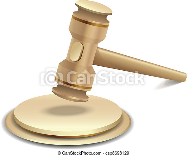 Vector illustration of gavel - csp8698129