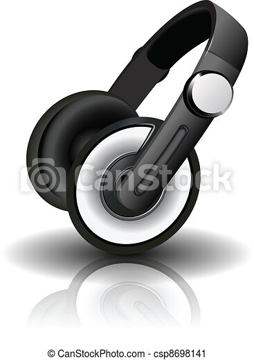 Vector illustration of headphones - csp8698141