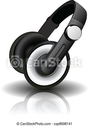 Vector illustration of headphones - csp8698141