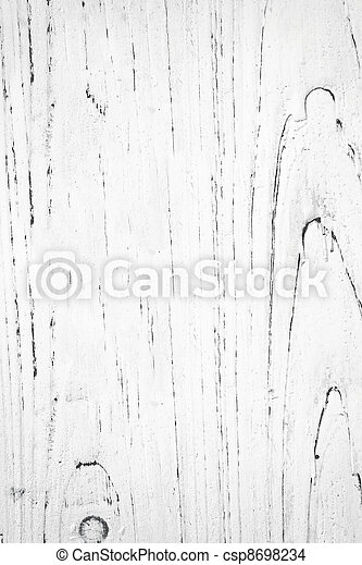 White Painted Wood Grain - csp8698234