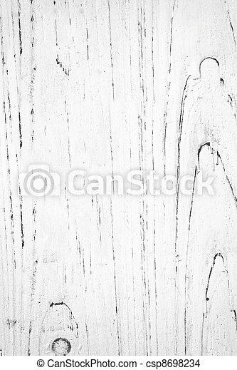 White Painted Wood Grain - csp8698234