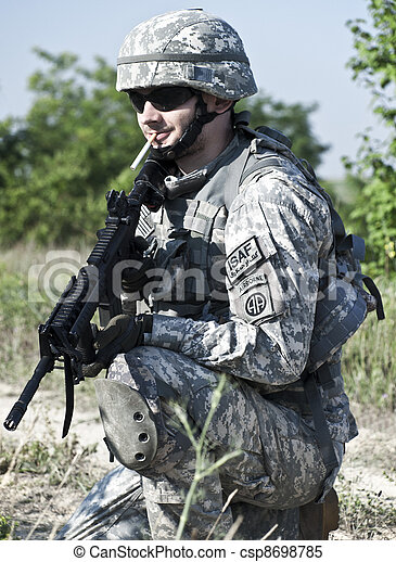 US soldier - csp8698785