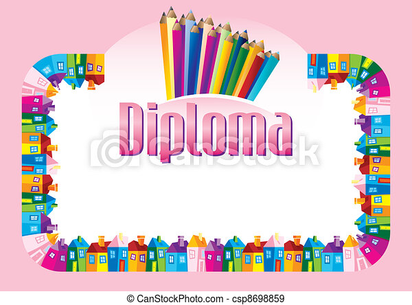 Diploma for children - csp8698859