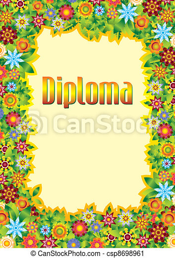 Diploma for children - csp8698961