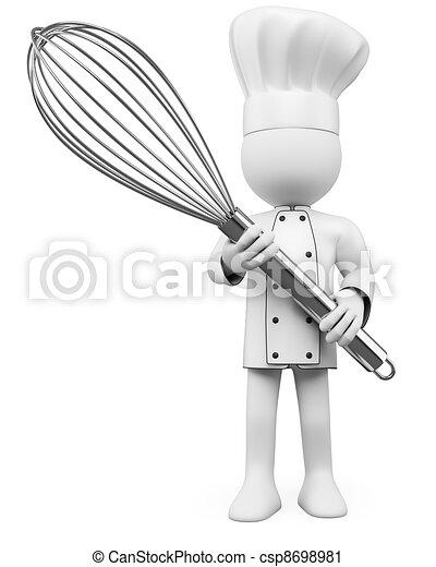 Clipart de cuisinier poser m langeur 3d 3d cook for Cuisine 3d boulanger